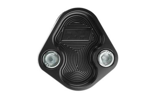 Redhorse Aluminum Block-Off Plate for BBC ENGINE - Black