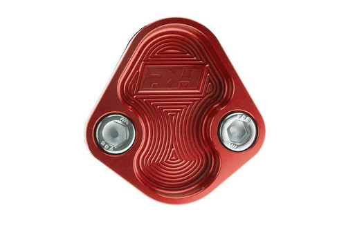 Redhorse Aluminum Block-Off Plate for BBC ENGINE - Red