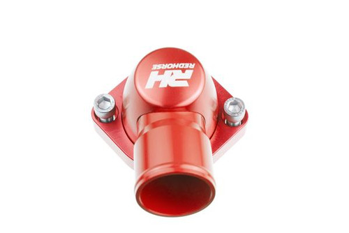 "Redhorse Aluminum Water Neck 1.25"" Hose for Chevy V8 All ENGINE - Red"
