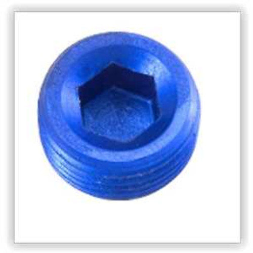 "Redhorse -01 (1/16"") NPT hex head pipe plug - blue - 2/pkg"