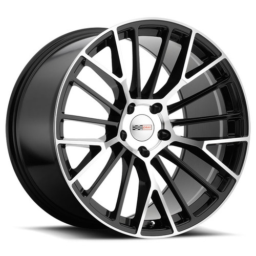 ASTORIA  18x9.0 5/120.65 ET50 CB70.3 GLOSS BLACK W/MIRROR CUT FACE