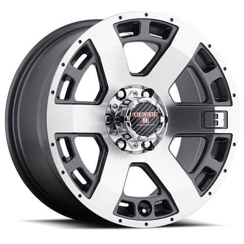 SCORPION 17x9.0 6/139.7 ET00 CB106.1 ANTHRACITE W/MACHINED CUT FACE