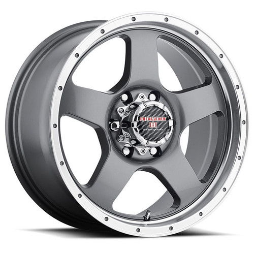 PUNCH 18x9.0 6/139.7 ET00 CB106.1 ANTHRACITE W/MACHINED LIP