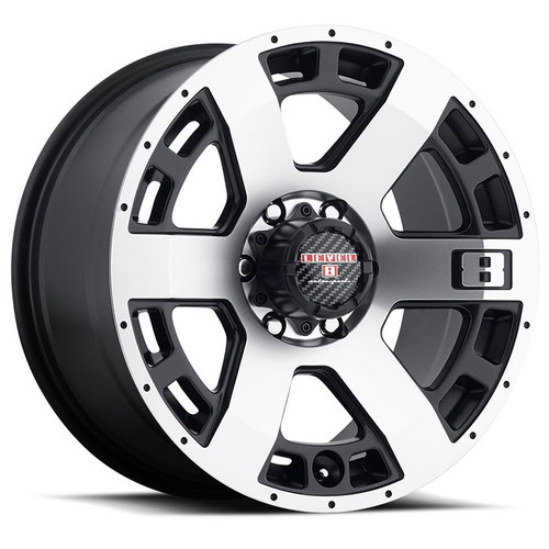 SCORPION 20x9.0 6/139.7 ET00 CB106.1 MATTE BLACK W/MACHINED CUT FACE
