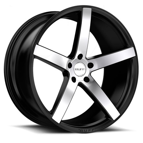 R1  20x10.0 5/114.3 ET45 CB73.1 SATIN BLACK W/MACHINED FACE