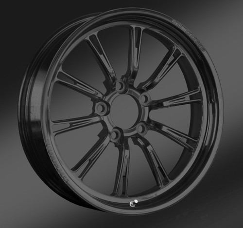 Solid Black Front Wheel