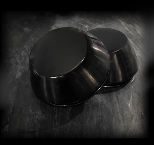 "XL Center Caps- Black Anodized- 2"" depth"