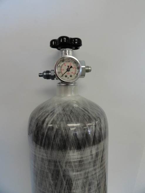 Carbon Fiber Nitrous Bottle w/Max-Flow Valve