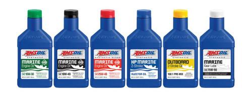 AMSOIL HP Marine Synthetic 2-Stroke Oil