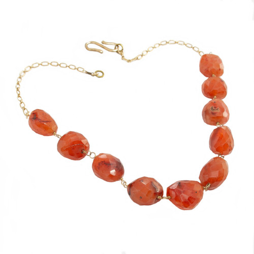 Faceted Carnelian Nuggets