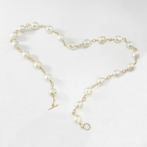 "Round Baroque Pearls - 26"""
