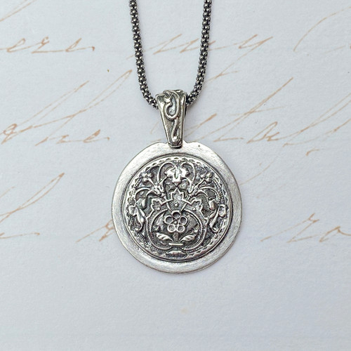 French Floral Pendant