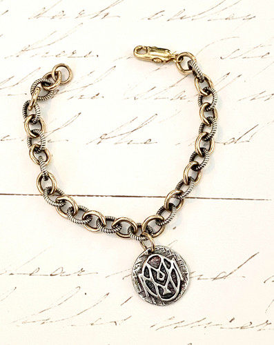 Mom Bracelet with Gold and Silver Chain