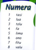 Numbers - Samoan Numera A3 laminated poster