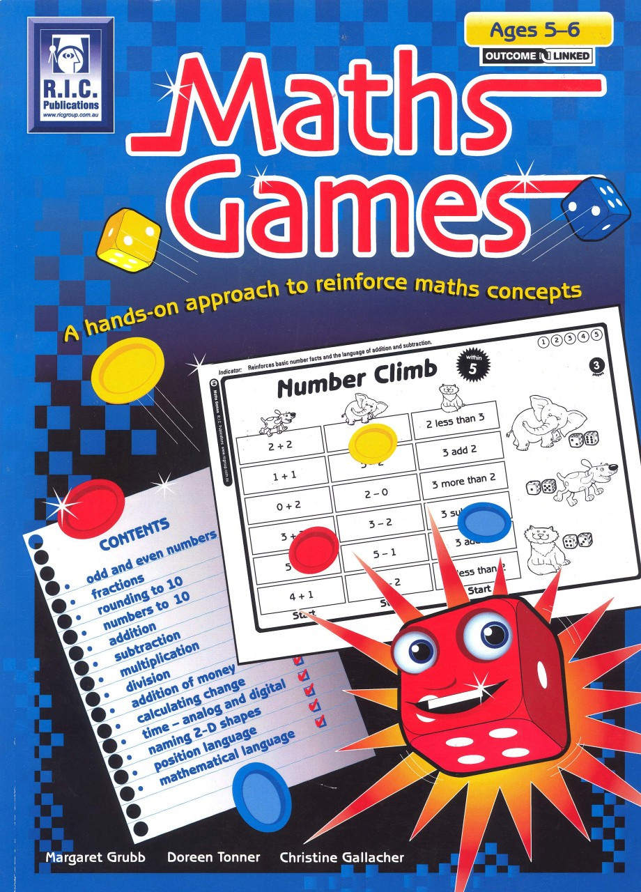 Maths Games: A hands-on approach to reinforce maths concepts - Ages 5-6