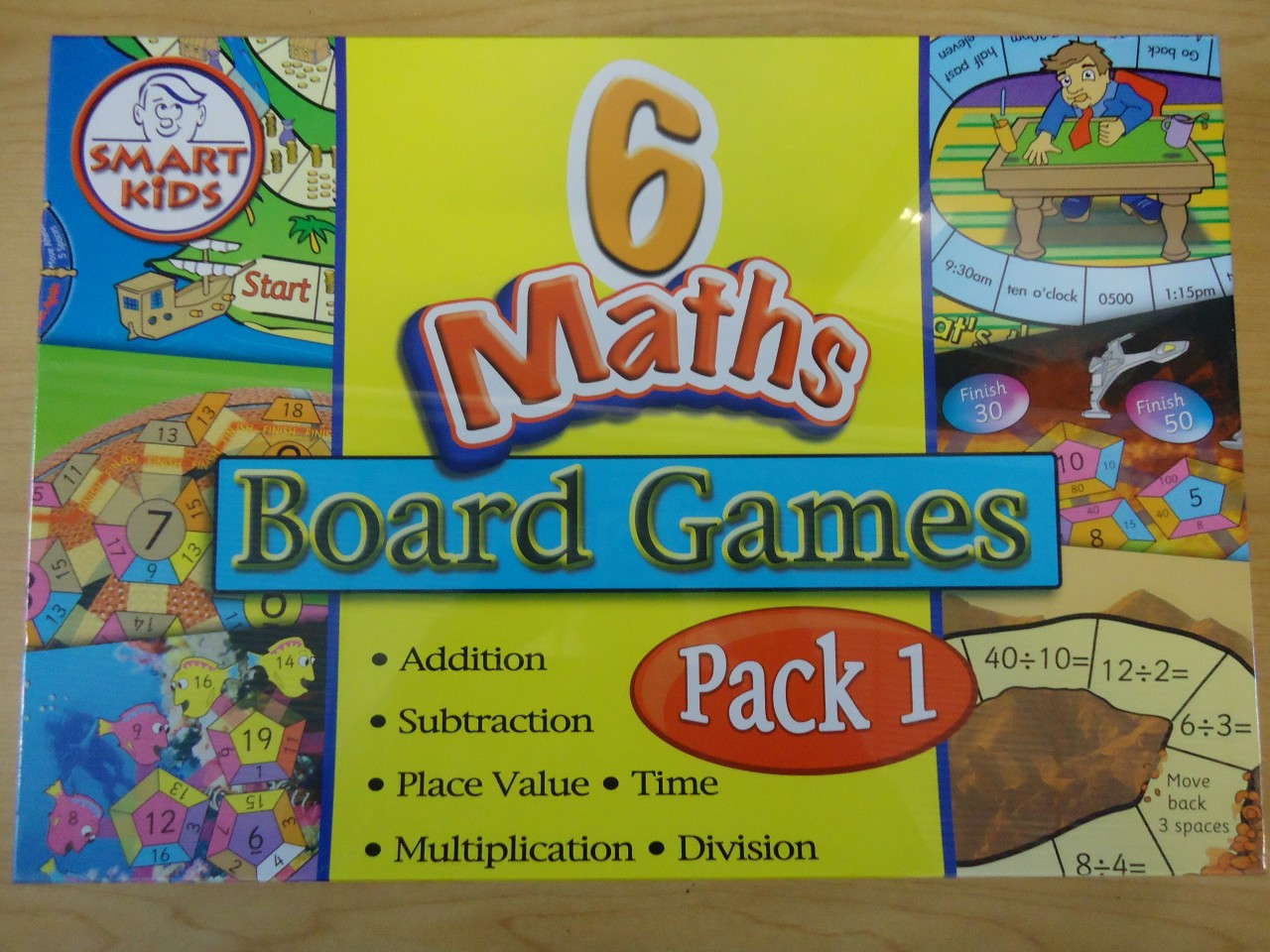 6 in 1 Maths Board Games (Pack 1)