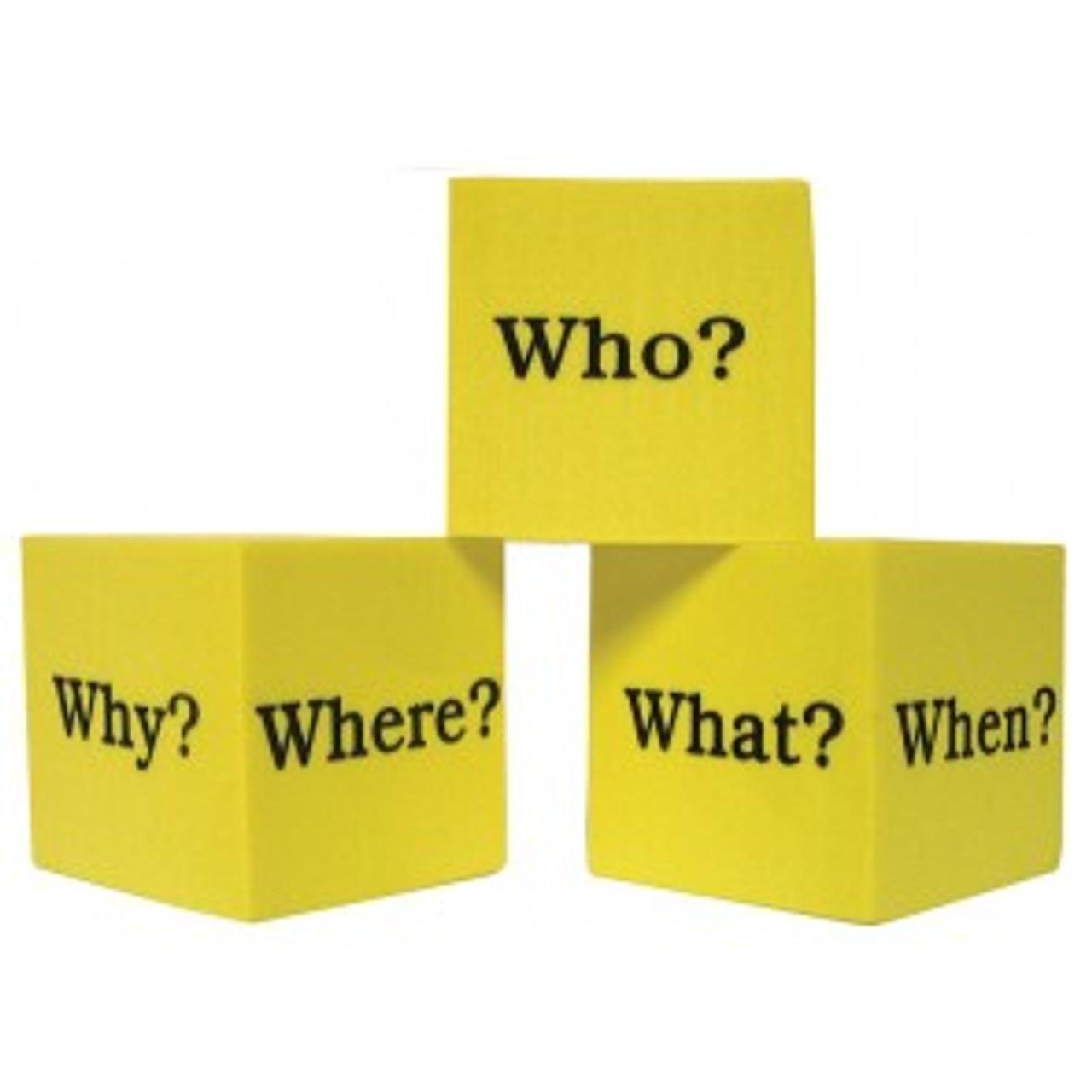 Question Cubes: 4 foam cubes per pack