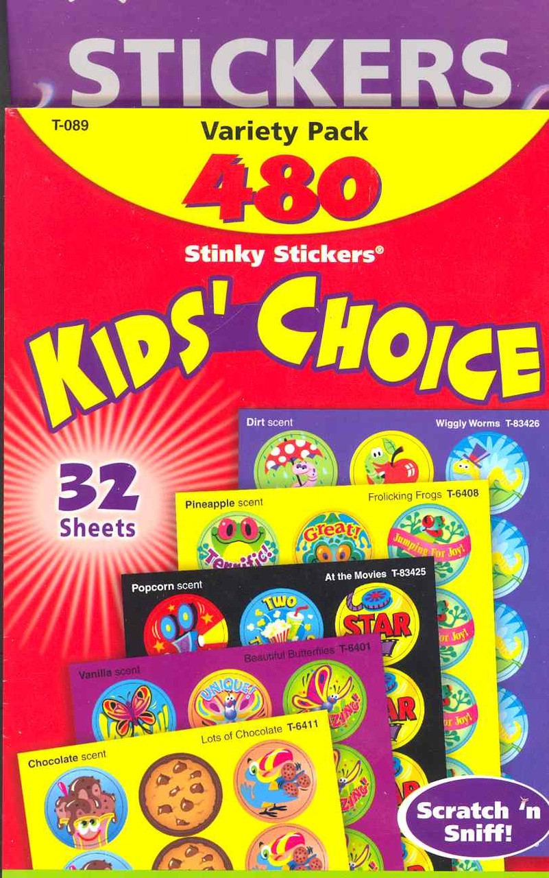 Stinky Stickers - Kids Choice 480 stickers