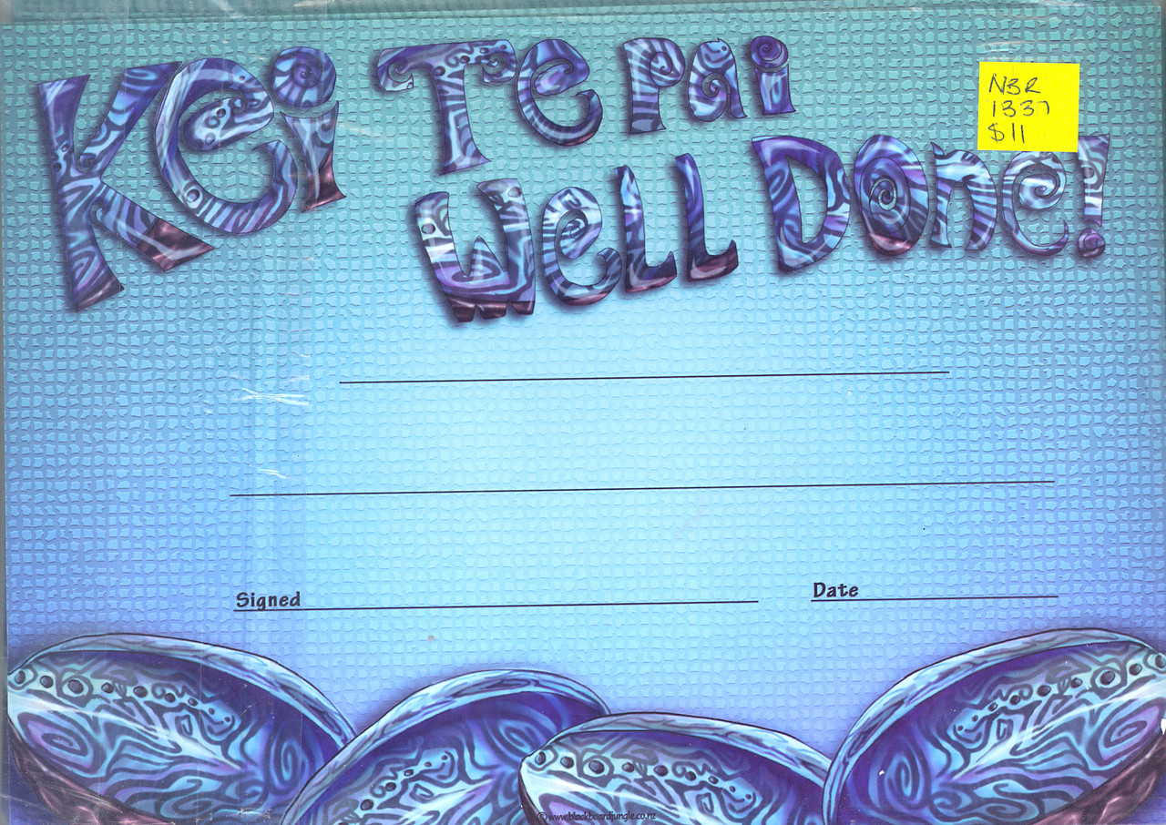 Paua Shell Awards - Kei Te Pai Well Done 30 peices