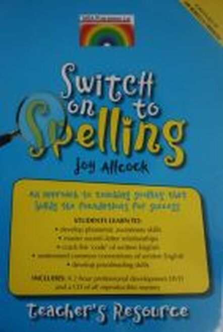 Switch on to Spelling - Teacher's Resource