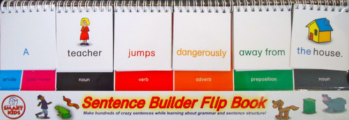 Sentence builder flip stand