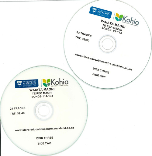 Waiata Maori - CD Set 3, Songs 91-134 (Exclusive to Kohia)