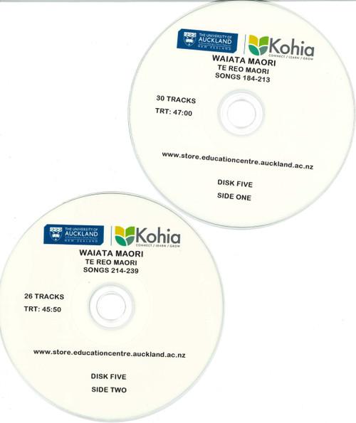 Waiata Maori - CD Set 5, Songs 184-239 (Exclusive to Kohia)