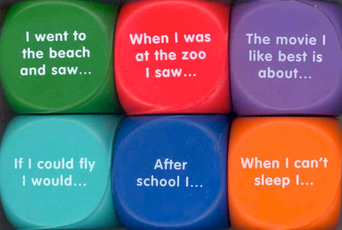 Writing Prompt Cubes - set of 6 in soft foam