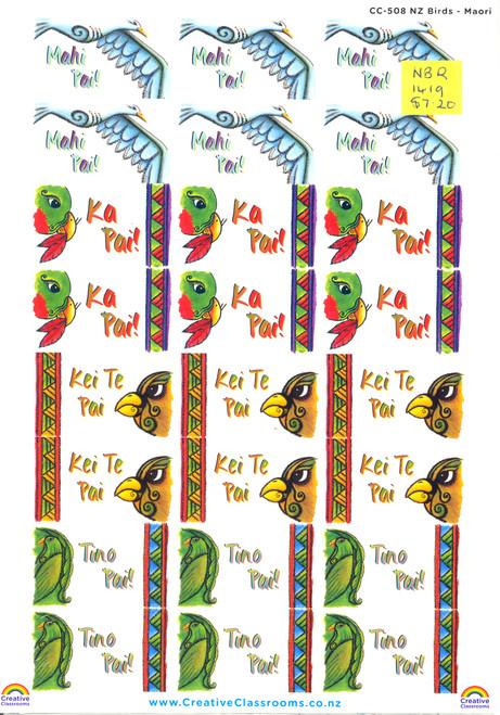 Stickers - NZ Birds Maori
