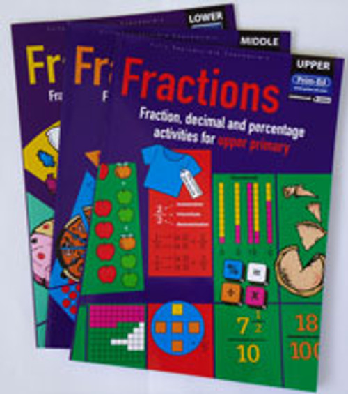 Fractions - Fraction, decimal and Percentage Activities for Upper Primary