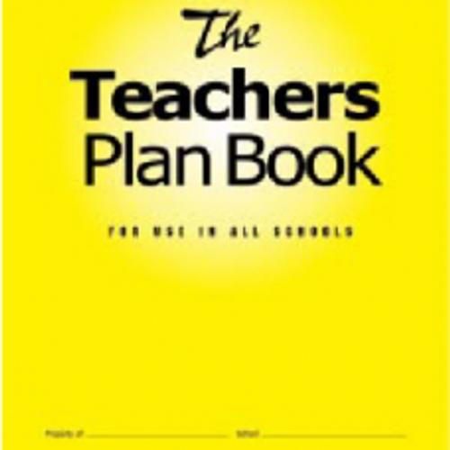 The Teachers Plan Book - Yellow 6 period