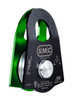"SMC 2"" Single Prusik Minding Pulley - Green & Black Side View"