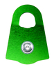 "SMC 2"" Single Prusik Minding Pulley - Green & Black Back View"