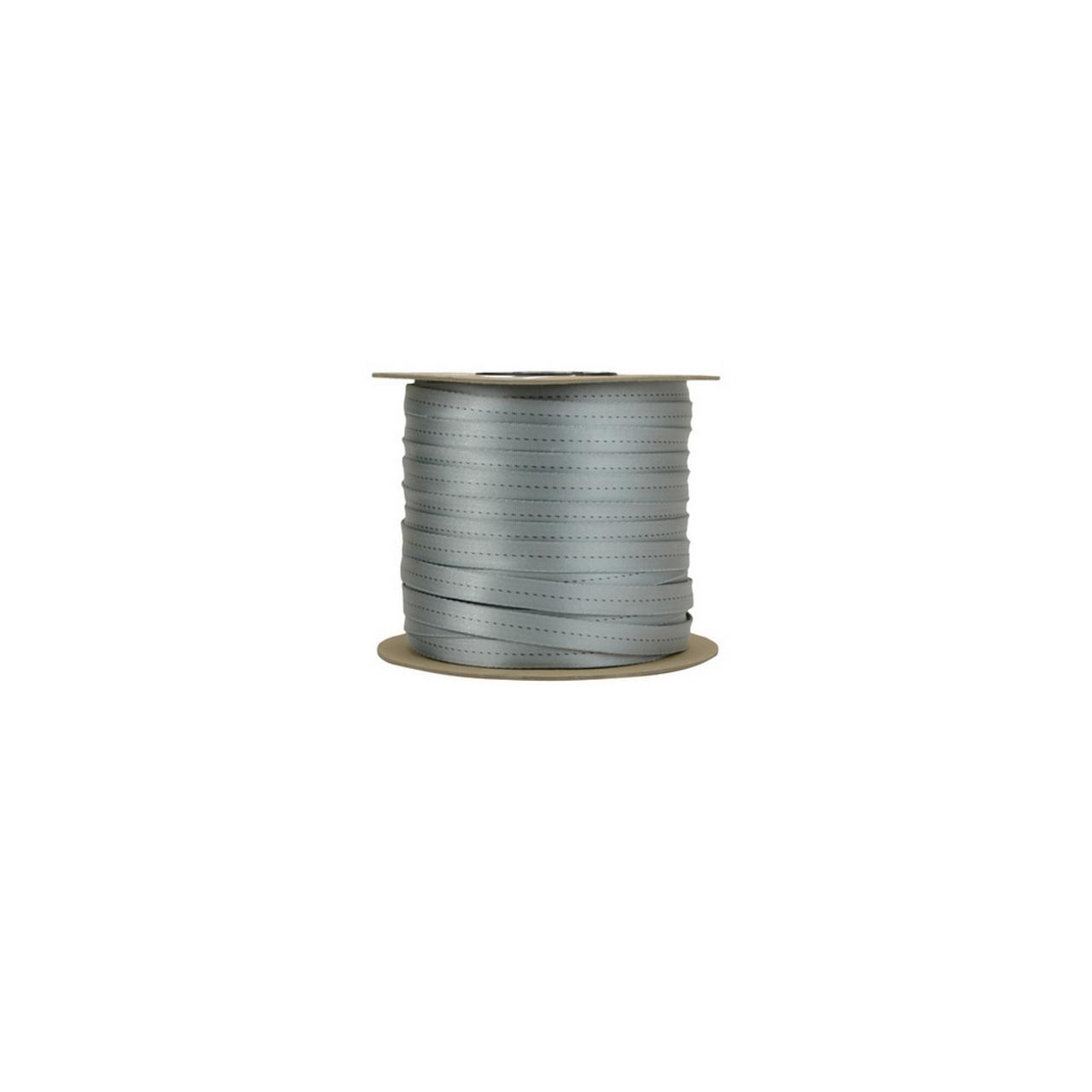 11 16 Tubular Webbing Silver