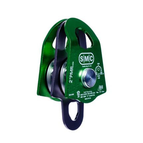 """SMC 2"""" Double Prusik Minding Pulley - Green / Gray"""