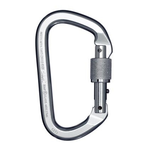 SMC Locking D Alum Carabiner (Silver)