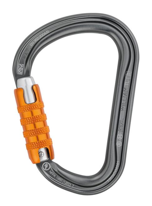 Petzl WILLIAM Tri-Act Lock Aluminum Carabiner