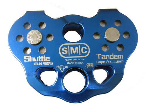 SMC Shuttle Tandem Rope Pulley, Blue