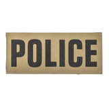 """SBT Banshee 3""""x7"""" POLICE Chest Patch with Hook Back Black on Coyote"""