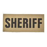 """SBT Banshee 3""""x7"""" SHERIFF Chest Patch with Hook Back Black on Coyote"""