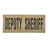 """SBT Banshee 3""""x7"""" DEPUTY SHERIFF Chest Patch with Hook Back Black on Coyote"""