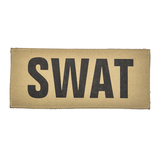 """SBT Banshee 3""""x7"""" SWAT Chest Patch with Hook Back Black on Coyote"""