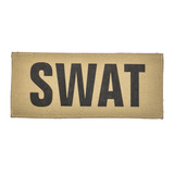 """SBT Banshee 2""""x5"""" SWAT Chest Patch with Hook Back Black on Coyote"""