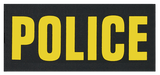"""SBT Banshee 3""""x7"""" POLICE Chest Patch with Hook Back Gold on Black"""