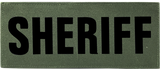 """SBT Banshee 3""""x7"""" SHERIFF Chest Patch with Hook Back Black on Olive"""