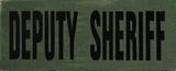 "SBT Banshee 3""x7"" DEPUTY SHERIFF Chest Patch with Hook Back Black on Olive"