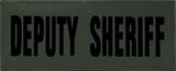"SBT Banshee 2""x5"" DEPUTY SHERIFF Chest Patch with Hook Back Black on Olive"