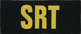 "SBT Banshee 2""x5"" SRT Chest Patch with Hook Back Gold on Black"