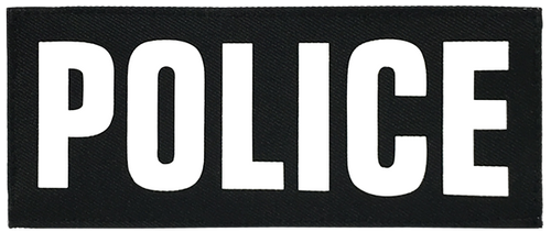 Shellback Tactical 3 x 7 Inch ID Placard with Hook Back - White Text and Black Background