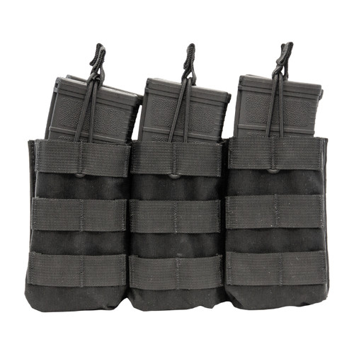 Shellback Tactical Triple Stacker M4 Open Top Mag Pouch Black Front